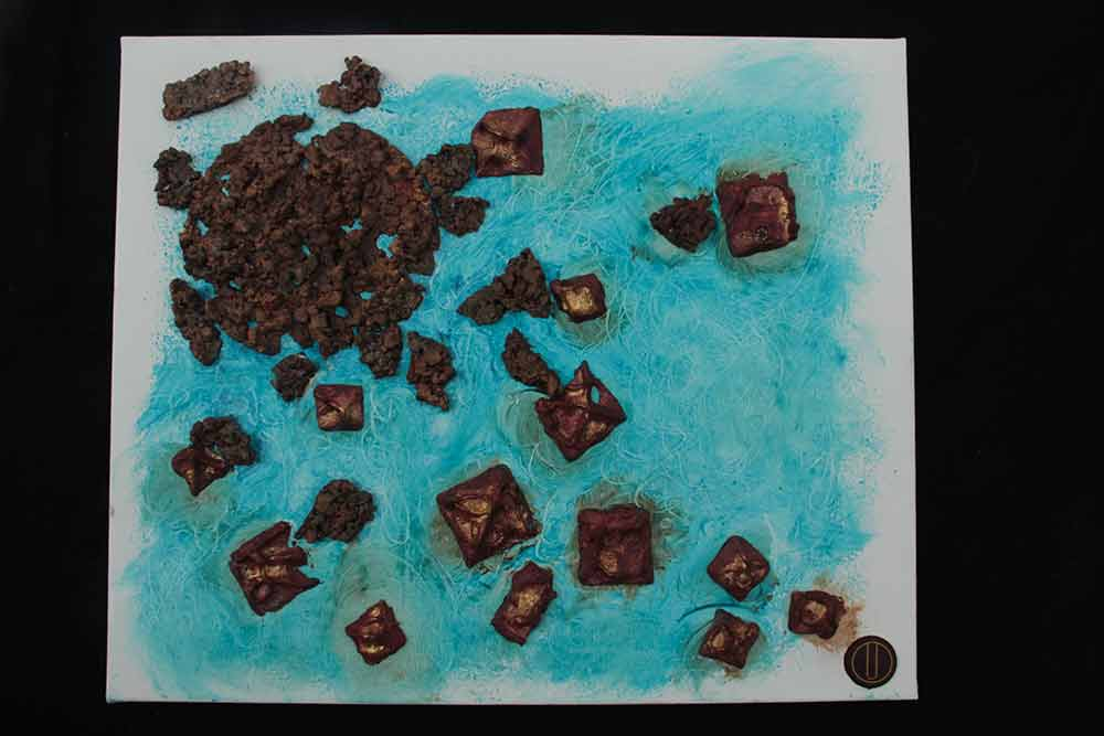 METEORES - Chocolate on canvas 50x60