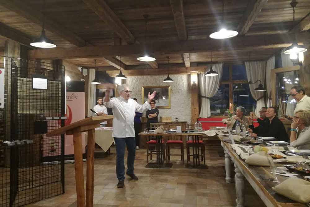 Food tasting night by Franco Ugetti at Haralds Restaurant in Bardonecchia