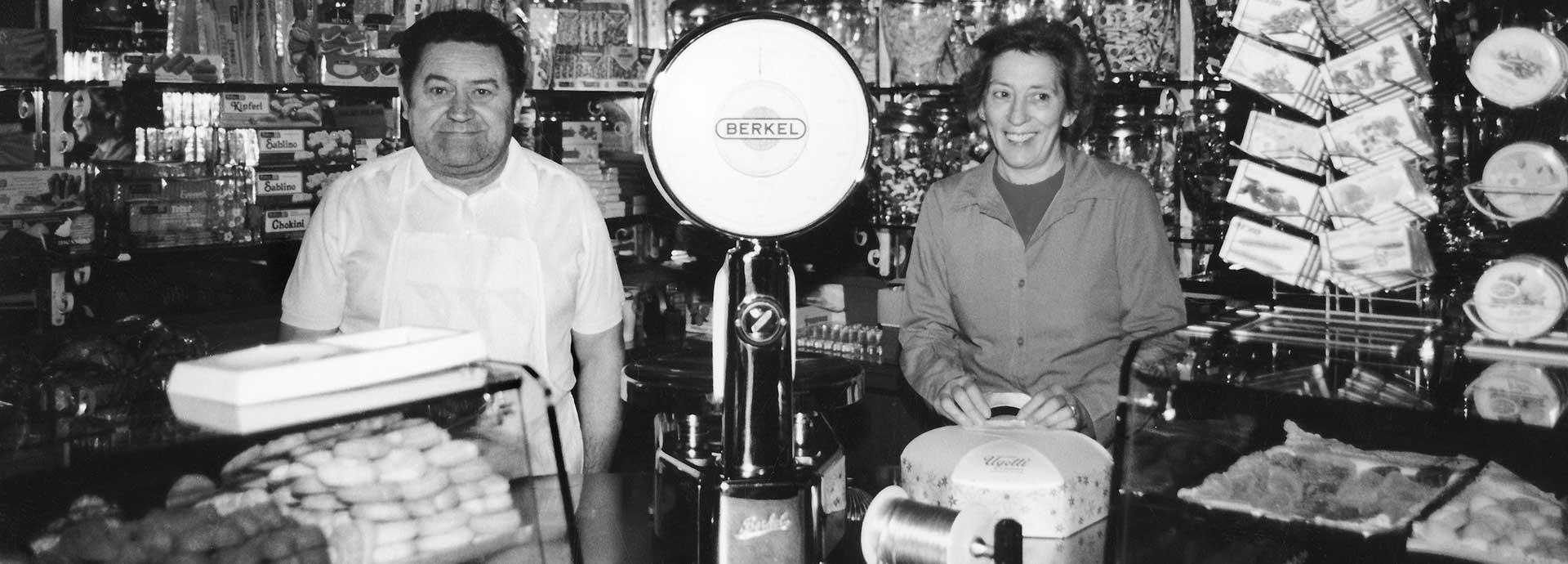 L'histoire de la pâtisserie Ugetti à Bardonecchia. 60 années d'activité.