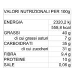 Valori Nutrizionali crema spalmabile UGETTI al cioccolato fondente con cacao Valrhona