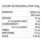 Valori Nutrizionali crema spalmabile alla Nocciola con nocciole Piemonte IGP