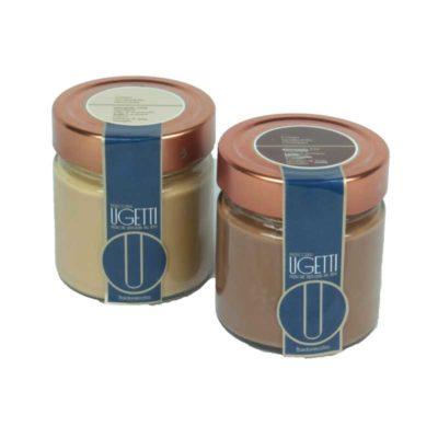 Degustazione 2 creme spalmabili - pasticceria e cioccolateria UGETTI a Bardonecchia