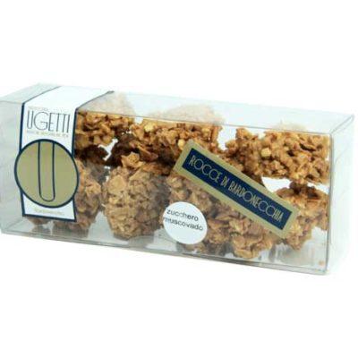 rocce al muscovado - Pasticceria Ugetti - Le rocce di Bardonecchia sono delle golosità croccanti a base di cioccolato, biscotto croccante, riso soffiato e frutta