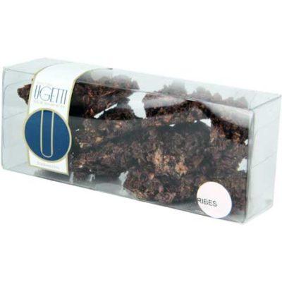 rocce Bardonecchia al ribes - Pasticceria Ugetti - Le rocce di Bardonecchia sono delle golosità croccanti a base di cioccolato, biscotto croccante, riso soffiato e frutta