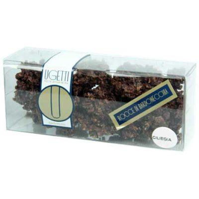 rocce alla ciliegia - Pasticceria Ugetti - Le rocce di Bardonecchia sono delle golosità croccanti a base di cioccolato, biscotto croccante, riso soffiato e frutta