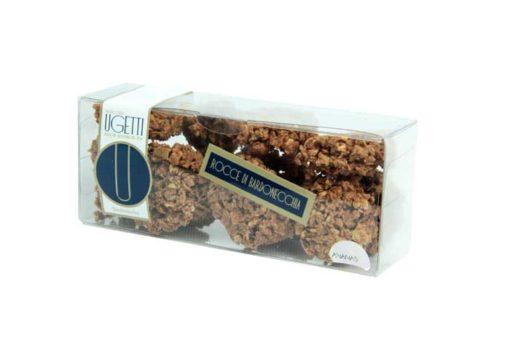 Dolci rocce di bardonecchia all'ananas - Pasticceria Ugetti - Le rocce di Bardonecchia sono delle golosità croccanti a base di cioccolato, biscotto croccante, riso soffiato e frutta