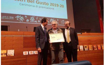 Ugetti premiato come Maestro del Gusto di Torino e provincia per il biennio 2019/2020